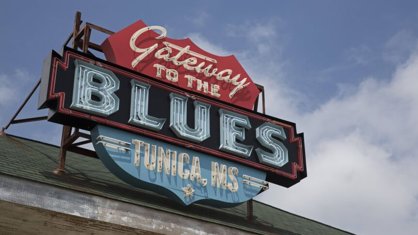 """Gateway to the Blues"" Museum im US-Bundesstaat Mississippi."