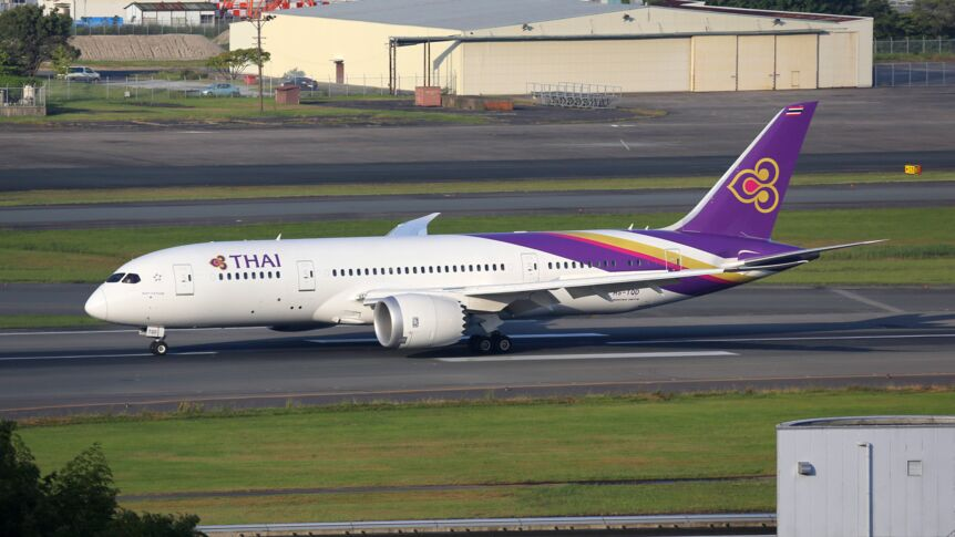 Thai-Airways-Flugzeug Boeing 787 Dreamliner.