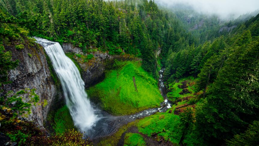 Der Salt-Creek-Falls in Oregon ist 87 Meter hoch.