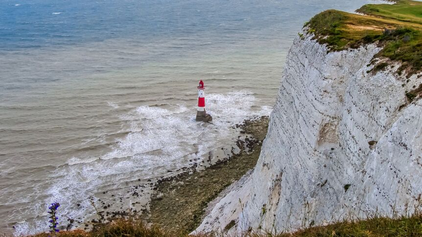Der Kreidefelsen Beachy Head in England