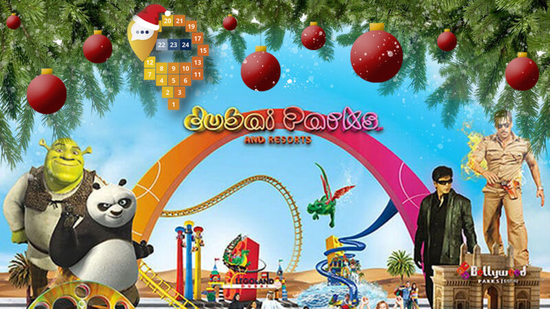 1. Türchen im Adventskalender: Dubai Parks and Resorts