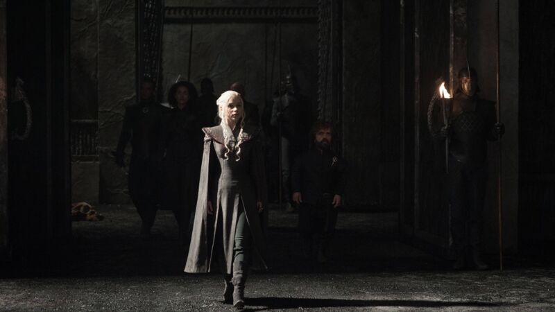 "Emilia Clarke am Set von ""Game of Thrones""."