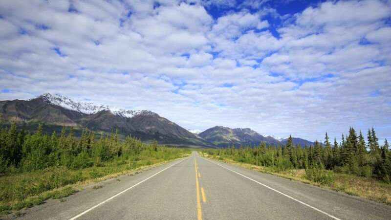 Der Alaska Highway in British Columbia, Kanada.