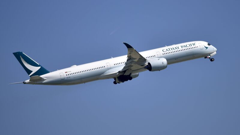 Ein Airbus A350-1000 der Airline Cathay Pacific.