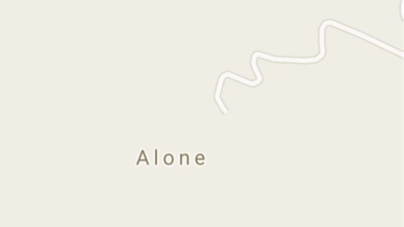 Screenshot des Ortes Alone in Italien auf Google-Maps.