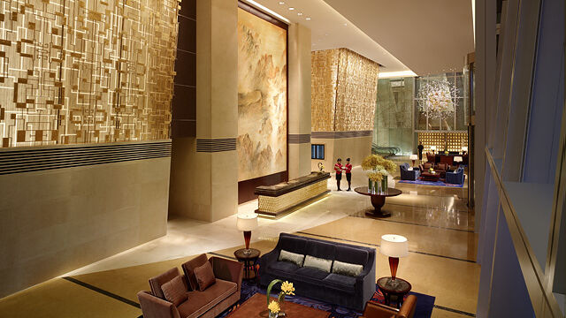 "Die Lobby des Hotels ""China World Summit Wing"""