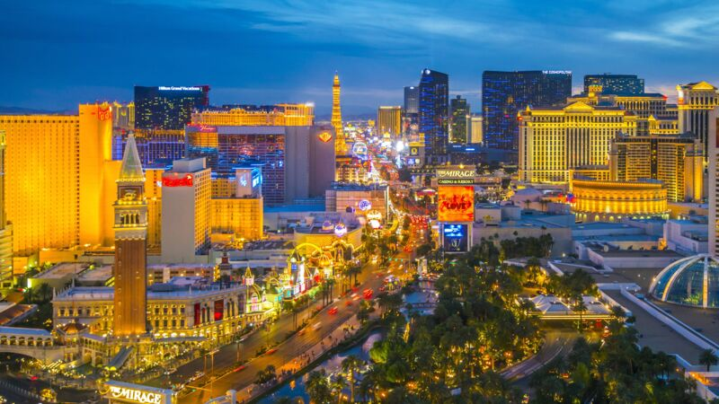 Blick auf The Strip in Las Vegas