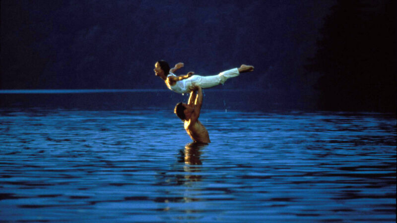 Jennifer Grey und Patrick Swayze im See Mountain Lake in Virginia.