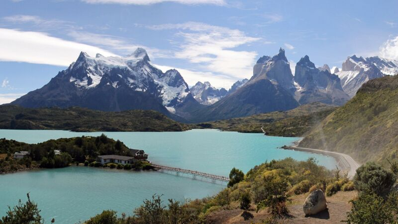 Die Gletscher im Nationalpark Torres del Paine in Patagonien in Chile