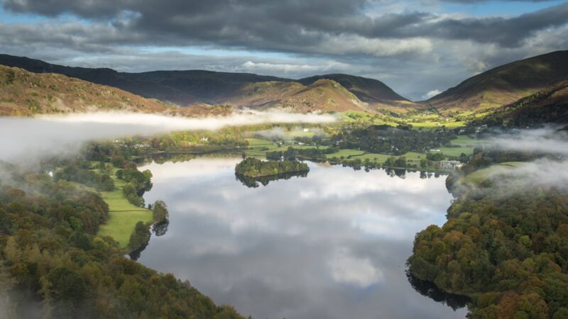 Blick über den Lake District in England Grasmere
